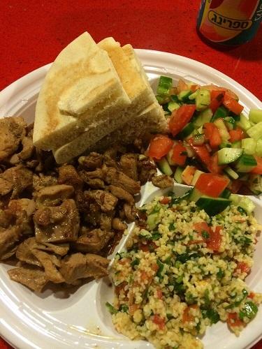 Shawarma plate at Sabra